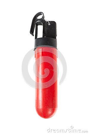 Car fire extinguisher isolated on white background