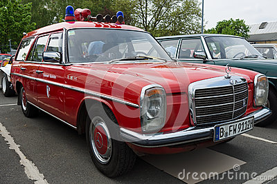 Car Fire Service Mercedes-Benz W114 Station wagon Editorial Stock Image