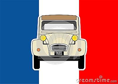 Car and flag
