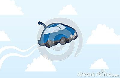 Car flying