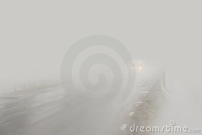 Car in fog