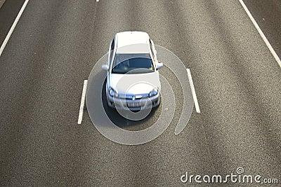 Car on freeway