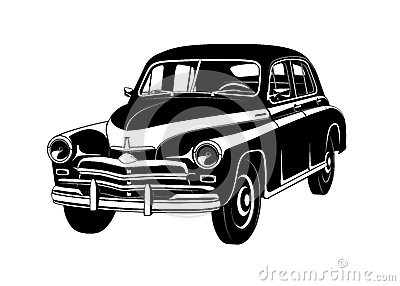 Car gaz 20 vector