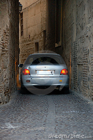 Car almost get stuck