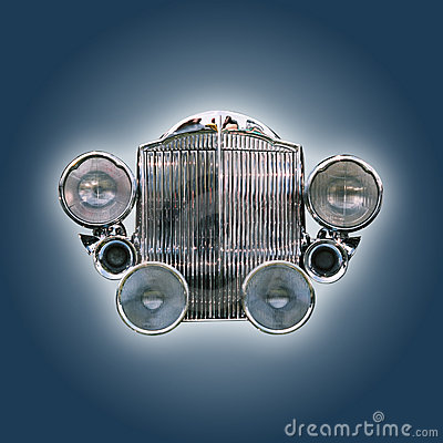 Car grill,isolated