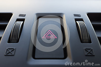 Car hazard button