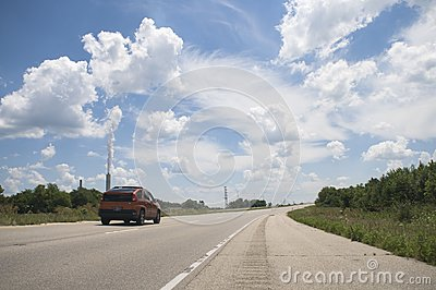 Car on Highway Skyline