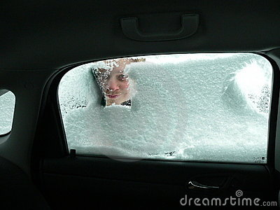 Car Ice Scraping