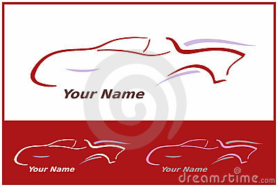 Car Icon in Red for Logo Design