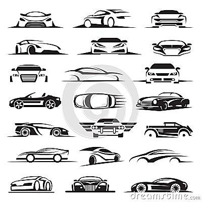 Free Car Icon Set Royalty Free Stock Photo - 52747575