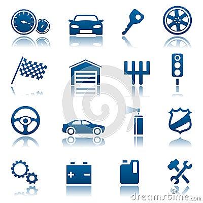Free Car Icons Royalty Free Stock Photos - 12356768