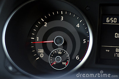 Car instrument panel with light reflection