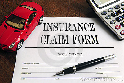 Car  insurance claim form on desk