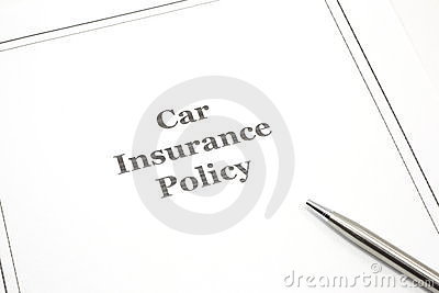 Car Insurance Policy with a Pen