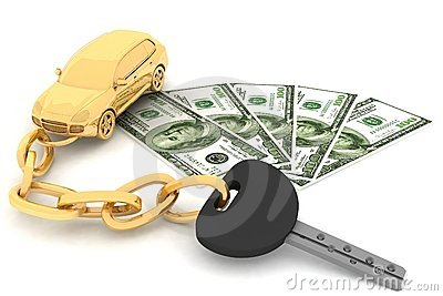 Car key and dollars