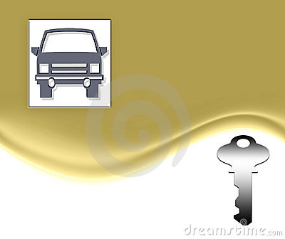 Car and Key On Gold