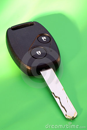 Car Key on Green