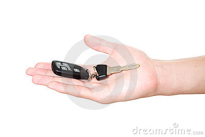 Car key on hand