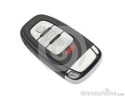 Car key, isolated