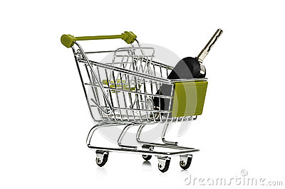 Car key in a shopping trolley