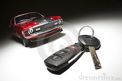 Car Key and Sports Car