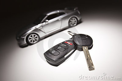 Car Key and Sports Car