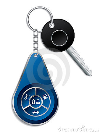 Car key with wireless remote