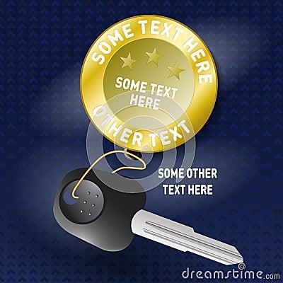 Free Car Key With Key Holder Stock Image - 51772831