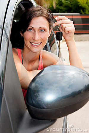 Car key woman