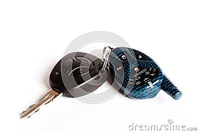 Car keys with the alarm system