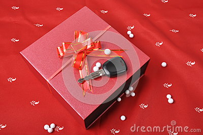 Car keys and Gift box
