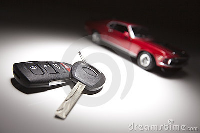 Car Keys and Sports Car