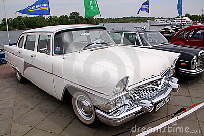GAZ 13 Chaika (Soviet-made limousine) Editorial Stock Photo