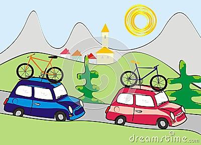 Car and landscape - summer