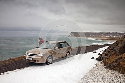 Car in Latrabjarg