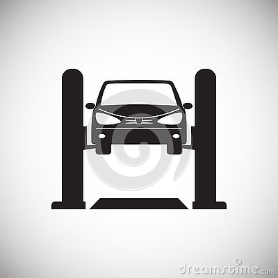 Free Car Lift Service Procedure On White Background For Graphic And Web Design, Modern Simple Vector Sign. Internet Concept. Trendy Royalty Free Stock Photo - 132718135