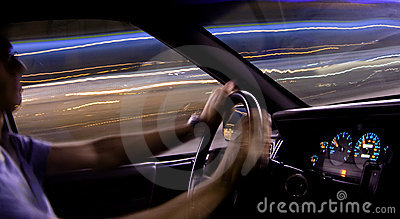 Car light trails - driver