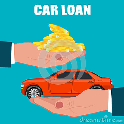 Free Car Loan Concept, Vector Illustration Stock Image - 72677711