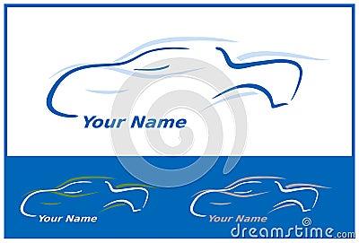 Car Logo in Blue Vector Illustration