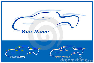 Car Logo in Blue