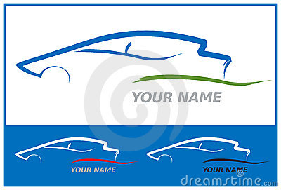 Car Logo in Blue and Green Vector Illustration