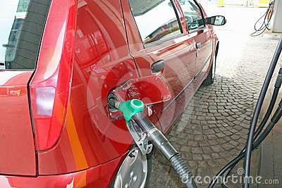 Car makes a supply of green unleaded fuel