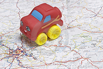 A car on the map.