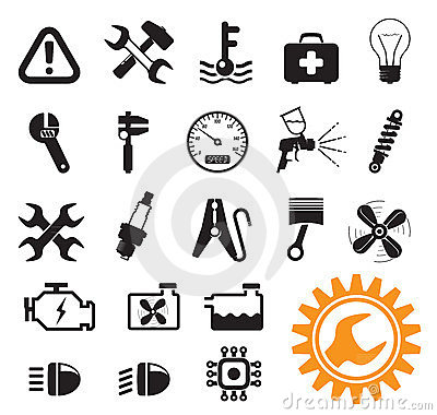 Free Car Mechanic Icons Royalty Free Stock Images - 23582529