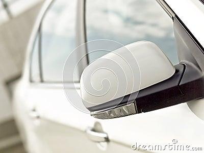 Car mirror with turn signal