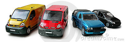 Car models - cargo, passenger van, pickup