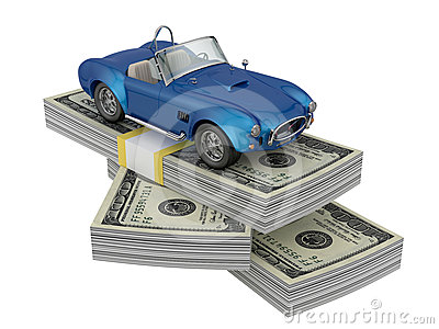 Car on money