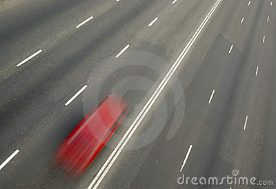 Car with motion blur