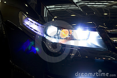 Car night headlight