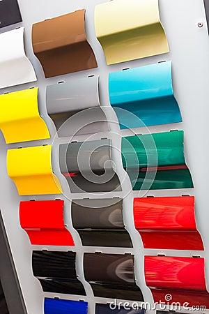 Car paint samples